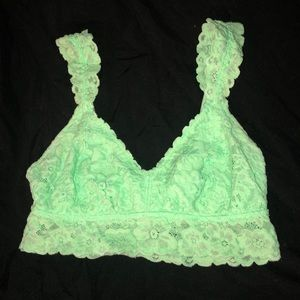 Light blue/green lace bralette